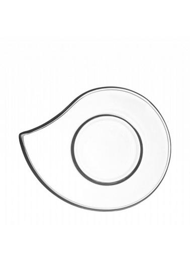 Lav Eva 6 Lı Cam Çay Bardağı Altlığı - Çay Tabağı Renkli